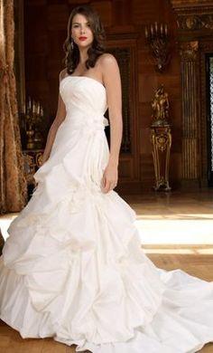My dream wedding dress on pinterest casablanca wedding for How much is a custom wedding dress