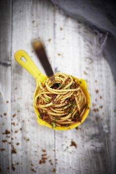 Pasta alle acciughe by insidethebag, via Flickr #pasta #italian #food #recipe #anchovies #insidethebag #food-photography #photography #styling
