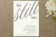Invite for anniversary party or vow renewal ceremony...