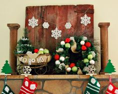 Barnwood Design, Pictures, Remodel, Decor and Ideas - fireplace decor