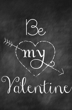 Be my valentine printable (free)