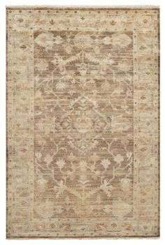 Surya Hillcrest HIL-9011 8' x 11' Oyster Gray, Gold Rug - craftsman - Rugs - PlushRugs