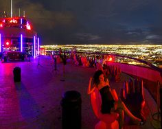 Dance at the Voodoo Lounge on the roof of the Rio hotel in Las Vegas. Check.