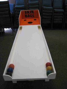 Photo Only : Homemade Skee Ball Game