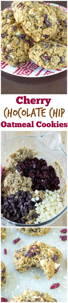 These Cherry Chocolate Chip Oatmeal Cookies are DELICIOUS!!! I make them all the time! :)