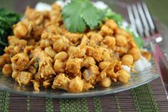 Slow Cooker Curried Chickpeas and Chicken | 5DollarDinners.com