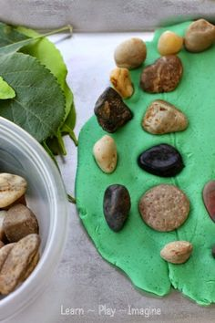Learning with playdough and natural elements