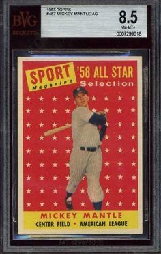 1958 Topps MICKEY MANTLE ALL STAR #487 NY Yankees - BVG 8.5 by Topps. $495.00. .