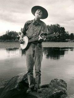 Pete Seeger is 94, folk singer.  5/3/2013