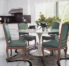 love the turquoise ostrich upholstery