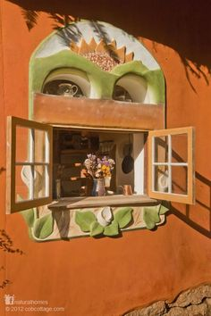 Casa de cob: ventana (Ianto & Linda´s House)