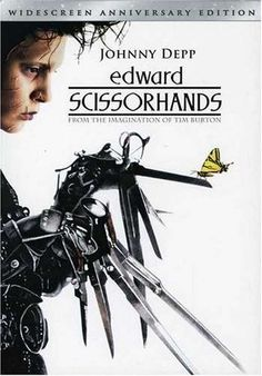 Edward Scissorhands (1990). An uncommonly gentle young man, who happens to have scissors for hands, falls in love with a beautiful teenage girl. Johnny Depp, Winona Ryder, Dianne Wiest.