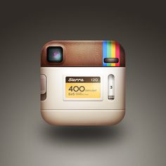 the back of the instagram icon by Cole Rise http://dribbble.com/shots/486991-the-back-of-the-instagram-icon-