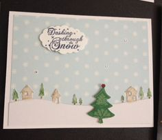 Christmas card using memory box country landscape die