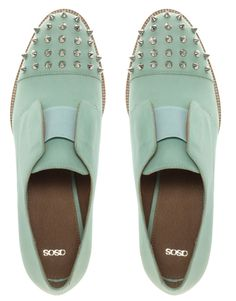 Minty spikes. #shoes
