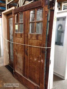 salvaged old doors via www.funkyjunkinte...