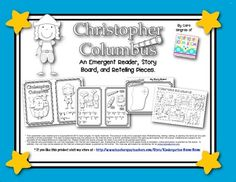 Columbus Day Reader and Retelling - includes reader, story board, and retelling pieces $