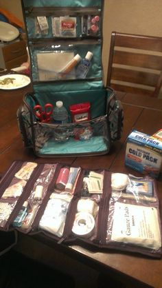 Great idea! First aid kit with the New Uptown Jewelry bag and Hostess Exclusive Deluxe beauty bag!