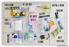 Really detailed camping post about how to be organised and get the most from your trip. See here a pic of a dedicated camping box, that's always ready to go! Blog post via Be a fun mum.