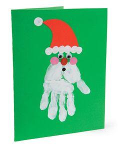 santa handprint card