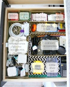 37UHeart Organizing:  The Junk Drawers That Went Glam