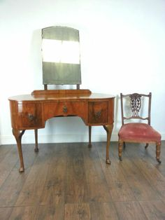 Art Deco 1920s Kidney Shape Dressing Table -Side Table