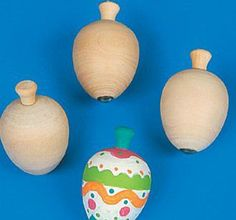 12 Unfinished Wooden Spinning Top Kids Craft Kits Craft Kit Kids Craft Kit | eBay