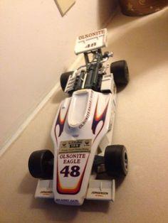 Jim Beam Decanter Olsonite Eagle #48 Indy Racecar