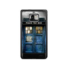 Galaxy S2 Tardis Doctor Who with yellow glass by simplegiftshop, $16.50