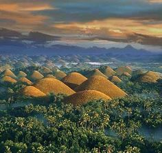 Hills as far as the eyes could see can only be found in the Island of Bohol, Philippines