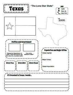 Printable 50 States Student Workbook - nonfiction writing????