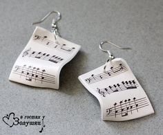 Free Shipping Earrings Music by VisitingCINDERELLA on Etsy, $16.00