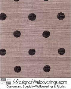 Le Dot Grasscloth - Polka Dot Wallpaper [LDG-12715] : Designer Wallcoverings, Specialty Wallpaper for Home or Office