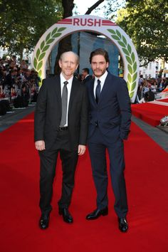 Ron Howard and Daniel Bruhl at the movie #premiere in London