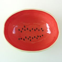 Watermelon Serving Bowl by vegetabowls on Etsy, $60.00