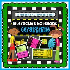 This download includes everything you need to teach linear graphing through foldables. Included are: 11 fun-to-build foldables, 6 reminder cards and picture directions for how to assemble everything.