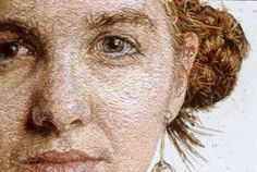 Artist Cayce Zavaglia's work is created entirely of embroidery thread and is far from domestic maintenance work.