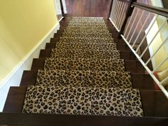 Installed In Yorba Linda CA Great Looking Wool Leopard Print Carpet