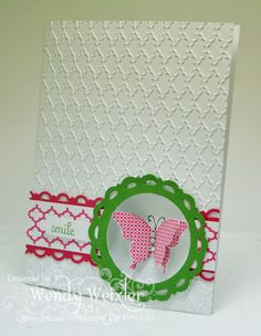 Dry Embossed Butterfly Card