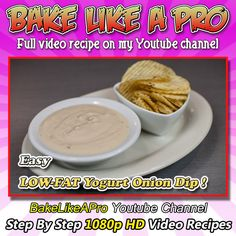 Easy LOW Fat Yogurt Onion Dip Recipe ! Please SUBSCRIBE: ► http://bit.ly/1ucapVH  Here's a very simple recipe that I've been using for over 20 years, it's low fat, and it's delicious.  If you love a good veggie dip or chip dip full of flavor, you must try this.    My Facebook Page: http://www.facebook.com/BakeLikeAPro My Twitter: http://twitter.com/BakeLikeAPro http://instagram.com/bakelikeapro  #recipe #recipeshare #lowfat #yogurt #dip #dips #love