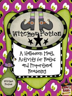 Witches Potion - A Math Activity for Ratios and Proportional Reasoning - freebie