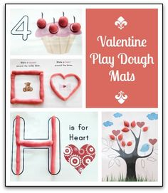 Valentine Playdough Mats (from Gift of Curiosity)