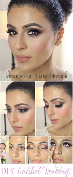 bridal makeup tutorial by @Sonali Patel Patel Patel Patel Patel Patel Bhalodkar Gasparian. Visit youtube.com/makeupbysona and youtube.com/missmavendotcom for more tutorials!