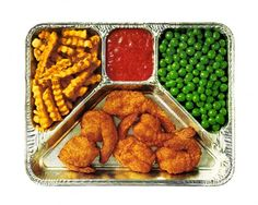 TV Dinners...pre-microwave era! We lived on these!