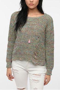 Staring at Stars Rainbow Marl Pullover Sweater