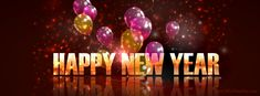 Happy New Year – Happy New Year Ballons  Facebook Timeline Cover on http://www.covermytimeline.com