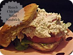 Confessions of an ADD Housewife: Ranch Chicken Salad Sandwiches