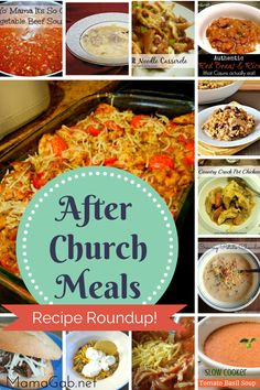 Quick easy meals that you can pre-prep before church, this will be nice with church so late