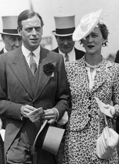 Edward VIII/The Duke of Windsor's handsome younger brother George - Duke of Kent - dutifully married the Greek Princess Marina in 1934 and then cheated on her.
