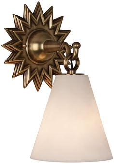 "Robert Abbey Churchill 11 3/4"" High Aged Brass Wall Sconce -"